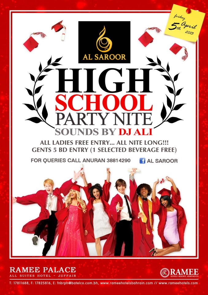 High School Party Night Events Whatsupbahrain Net