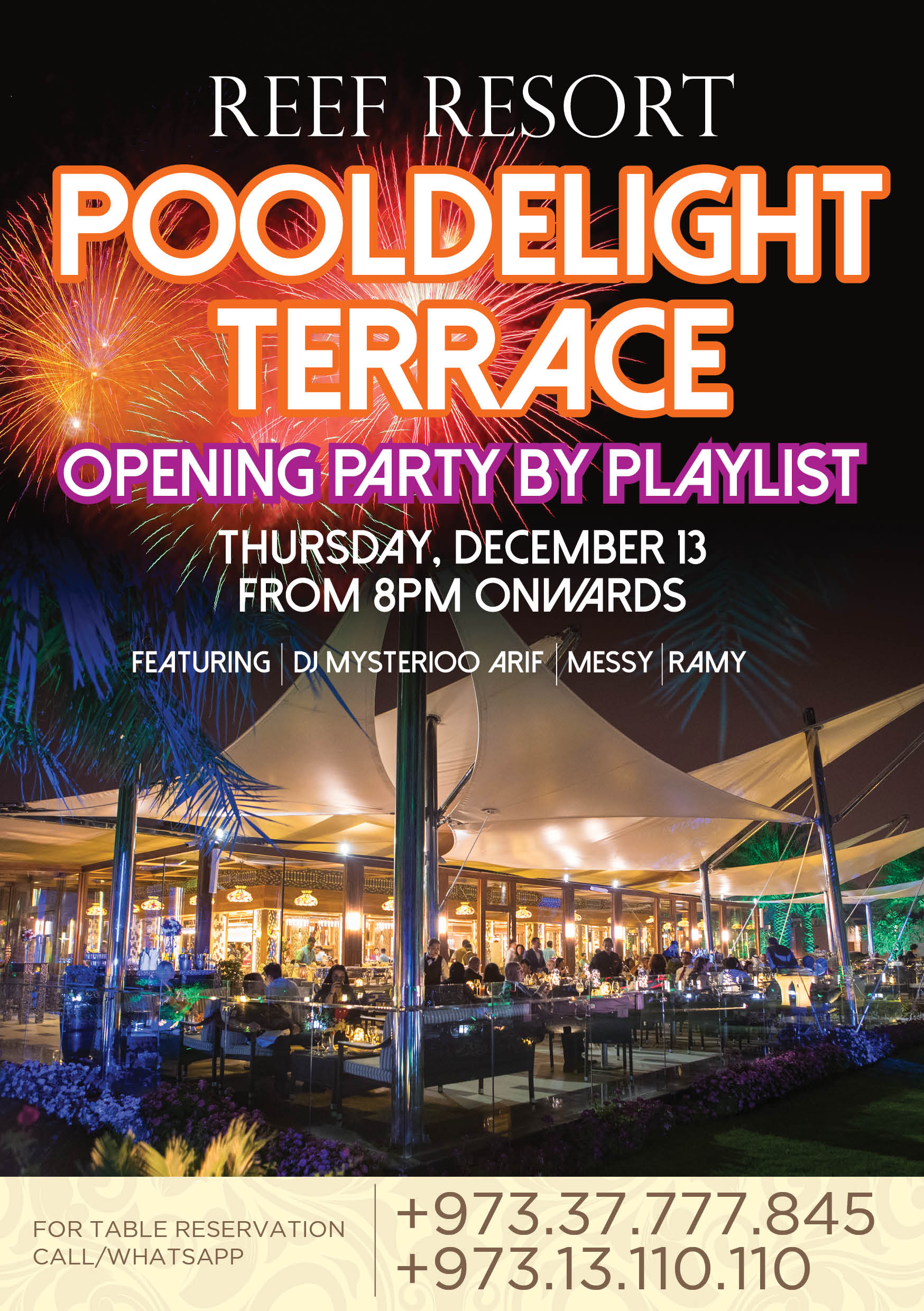 Pool Delight Terrace Opening Party! - Events
