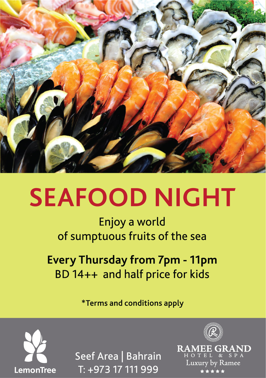 Seafood Night Events Whatsupbahrain Net