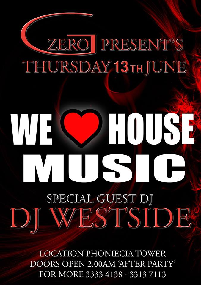 We love house music after party events for House music party